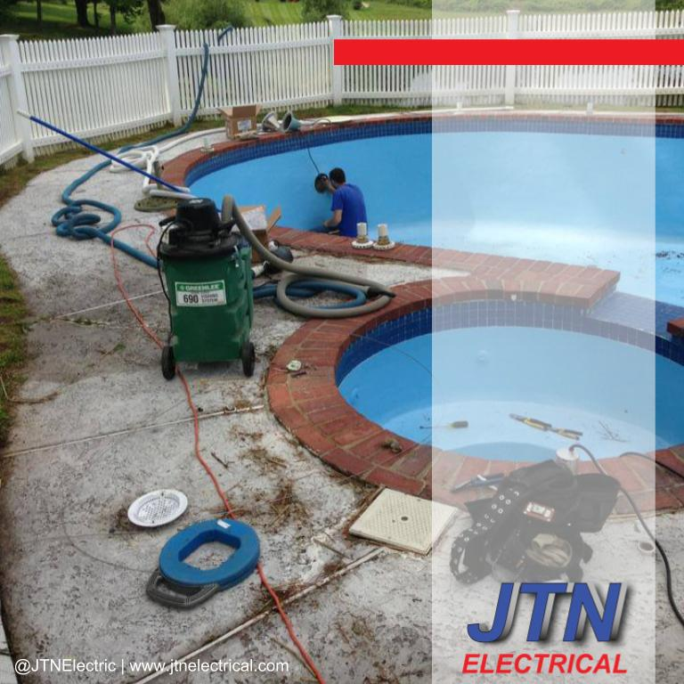 Pool lighting repairs in Suffield, Connecticut by JTNelectric