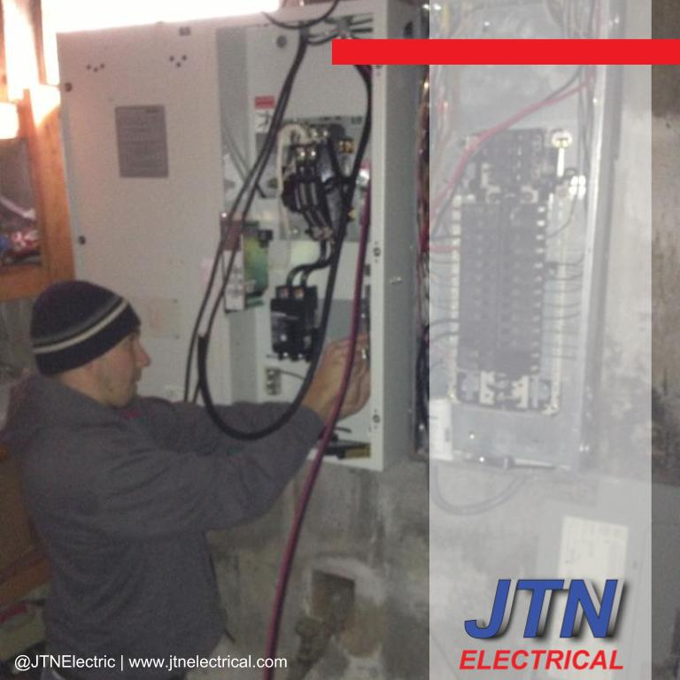 Generator transfer switch installed in Suffield Connecticut by JTNelectric