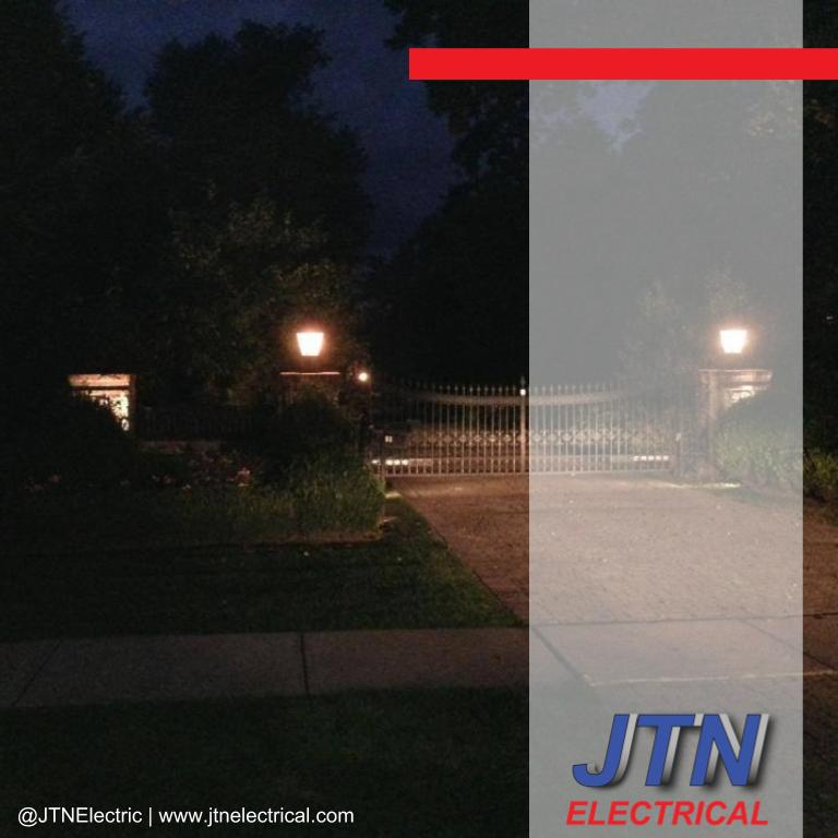 Driveway entrance low voltage lighting in Suffield Connecticut by JTNelectric