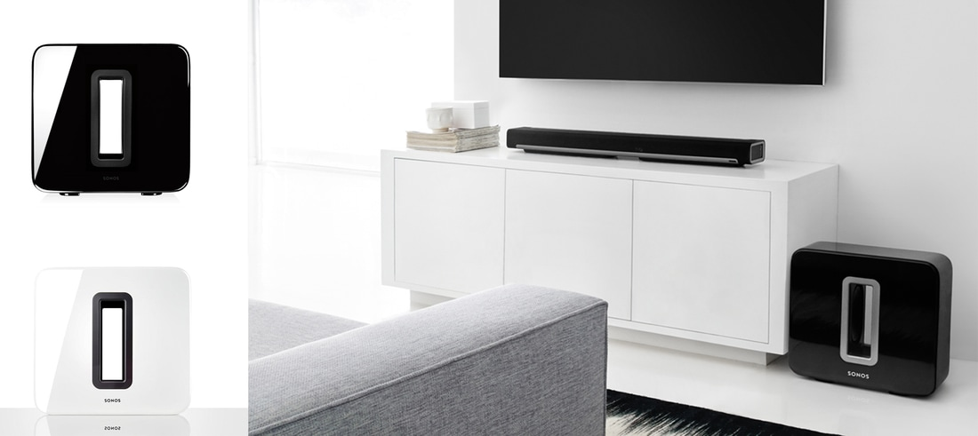 SUB The subwoofer for Sonos speakers. 	•	Adds dramatically deeper bass to any Sonos speaker (or amplified component). 	•	Zero cabinet buzz or rattle. 	•	Versatile. Place it anywhere. Standing up or lying flat. 	•	One-button setup.